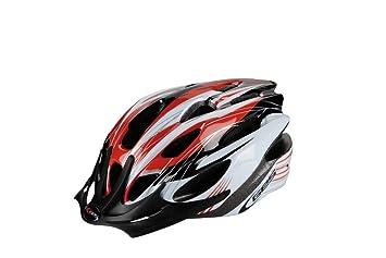 Manufacturas Ges H401Q30 - Casco de Ciclismo Rocket, Color Rojo, Negro y Blanco,