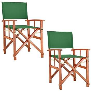 Pré Régisseur Fsc® Huilé De Pliable Bois Certifié Cannes Chaises « Deuba2x • D'eucalyptus Fauteuil Design Jardin » Vert m0OwN8vn