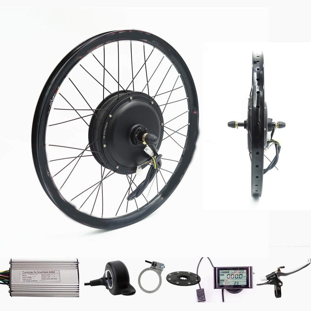 Wenhu 70Km / H 72V 2000W Rueda Trasera Motor Bicicleta eléctrica Kit Bicicleta eléctrica Kit de conversión: Amazon.es: Deportes y aire libre