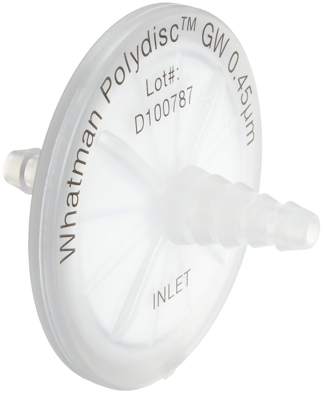 WHA-10463400 0.45 Micron Pack of 20 4.5 bar Maximum Pressure 6 to 14mm Tubing Nozzle Connection Whatman 10463400 Polydisc GW Nylon In-line Filters