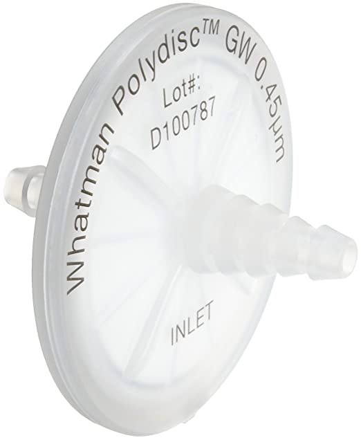 15 mm Diameter Graphic Controls 5077836D Nylon Syringe Filter 0.45 um Pack of 100