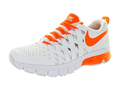Nike Fingertrap Max Mens Cross Training Shoes 644673-180 White Black-Total  Orange 10.5