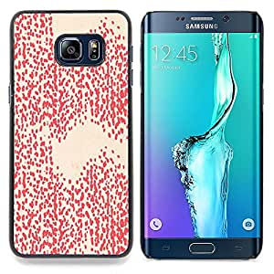 Stuss Case / Funda Carcasa protectora - Patrón Peach Pink Dots Abstract - Samsung Galaxy S6 Edge Plus / S6 Edge+ G928