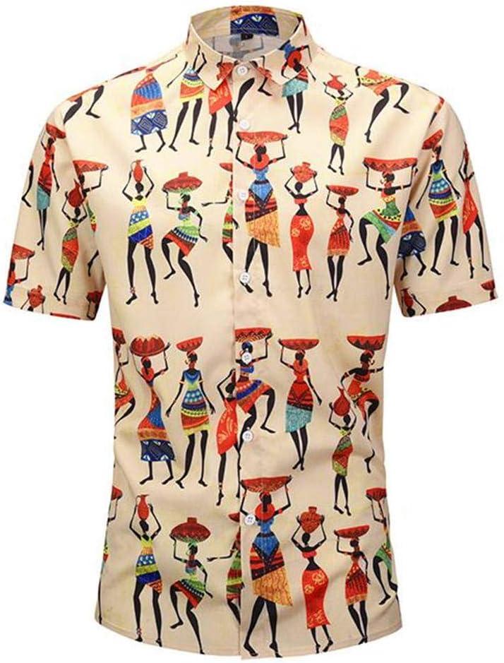 Camisa de manga corta, holgada, informal, holgada, de solapa, tamaño grande - M, L, XL, XXL, estilo indio 80% poliéster/mezcla de fibra química: Amazon.es: Amazon.es
