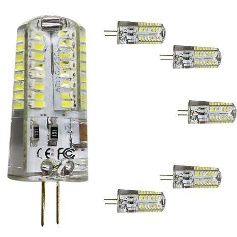 Mengjay® 5 unidades Bombilla LED G4 perlas, equivale a halógeno de 50W lámpara kaltesweiß