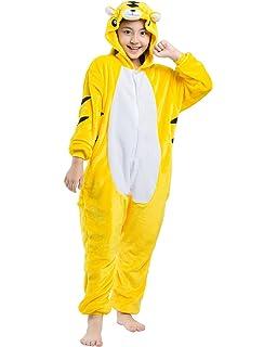 ea45bb6c76113 Magicmode Unisexe Enfants De Dessin Animé Tigre Jaune Une Pièce  Grenouillère Pyjama Costume De Cosplay