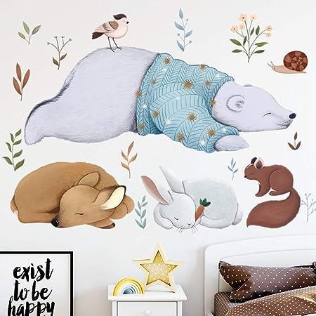 SJXWOL Oso Polar Conejo Ardilla Animales Pegatinas De Pared ...