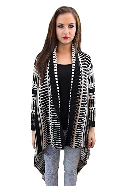 Girl Talk Clothing Knitted Tribal Waterfall Tassel Cardigan at Amazon Women s  Clothing store  6ef190523
