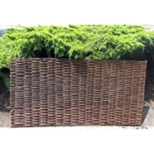 Willow Woven Hurdle Fence Panel, WWP-62, 6'W x 2'H