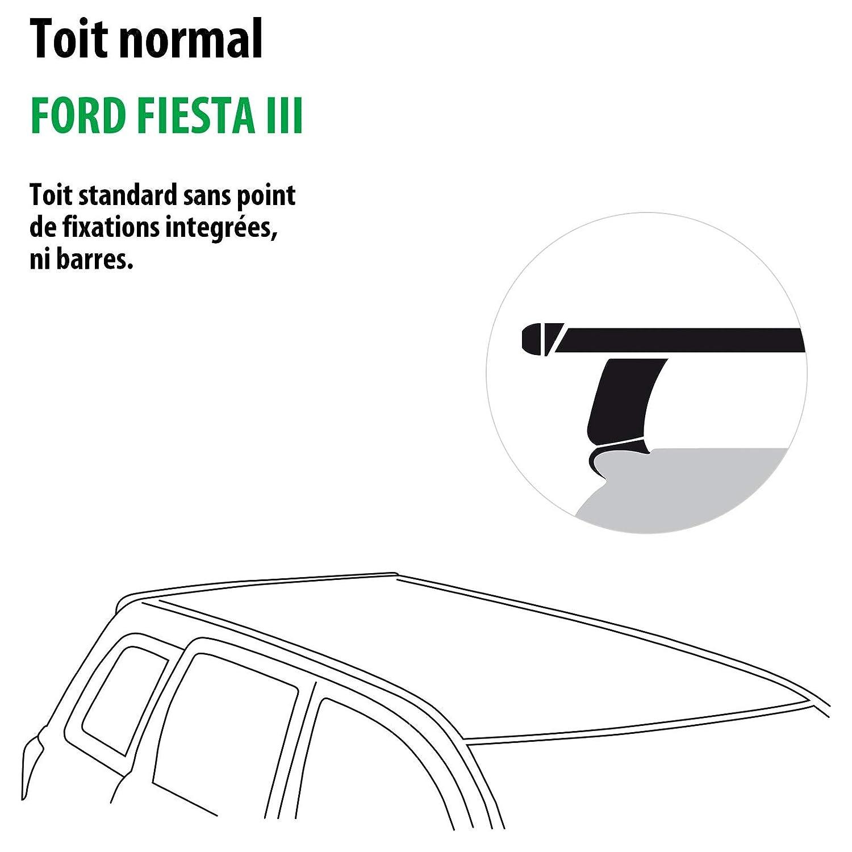 Kit completo Rameder, barras de techo slidebar para Ford Fiesta III (115115 - 00411 - 3-fr): Amazon.es: Coche y moto