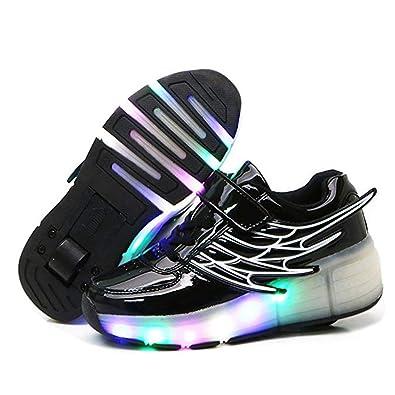 SKATE Chicos, niñas y Chicas, Zapatillas de Ruedas con Ruedas traseras, Zapatillas de skate Wing Skate para niños, jóvenes Rodillo: Amazon.es: Zapatos y ...