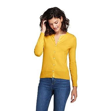 c8c9b41e76d Lands' End Women's Petite Supima Cotton Cardigan Sweater, XS, Atlas Yellow  at Amazon Women's Clothing store:
