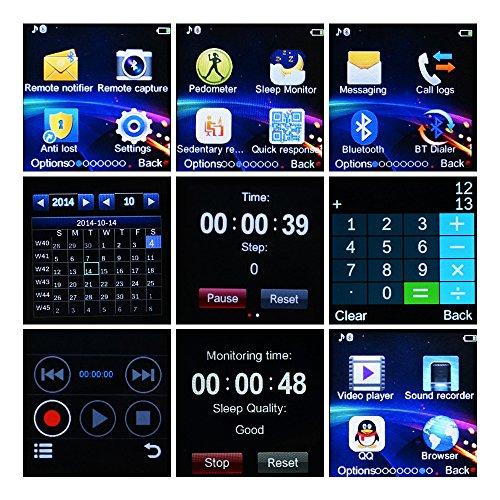 YUNTAB SW01 Bluetooth Smart Watch pantalla LCD 1.56