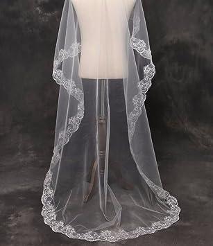 KHSKX-El Nuevo Encaje De Novia Coreana Velo Velo De Novia Cortos Cola Blanca Vestido