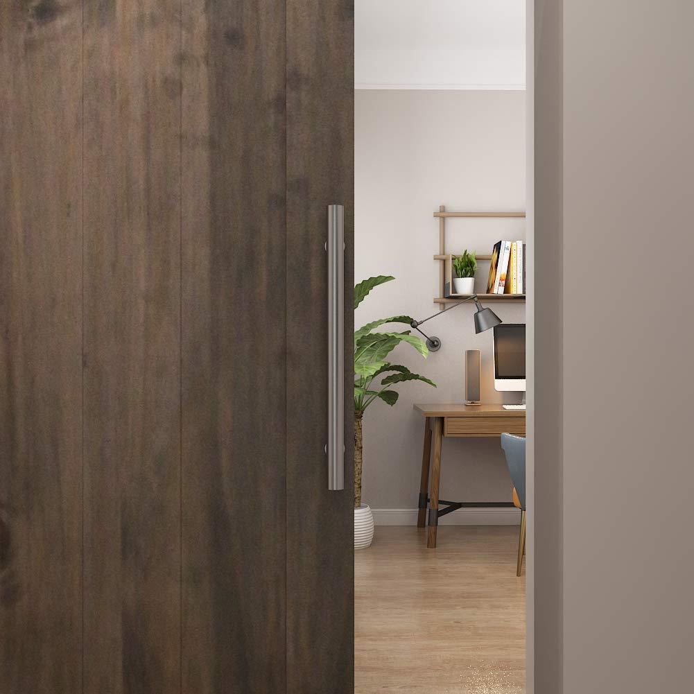 JUBEST Black Barn Door Handle and Pull Wood Door Two-Sided Bar-to-Bar Handle