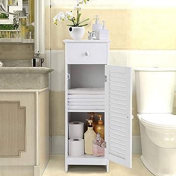 Narrow Free Standing Bath Sink Organizer Towel Storage ...
