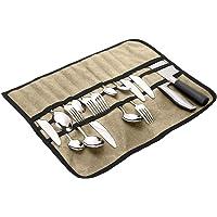 Flatware Caddy, Picnic Cutlery Roll, Flatware Chest CaddiesWith 33 Slots,Silver Tray Storage Bags Anti Tarnish…