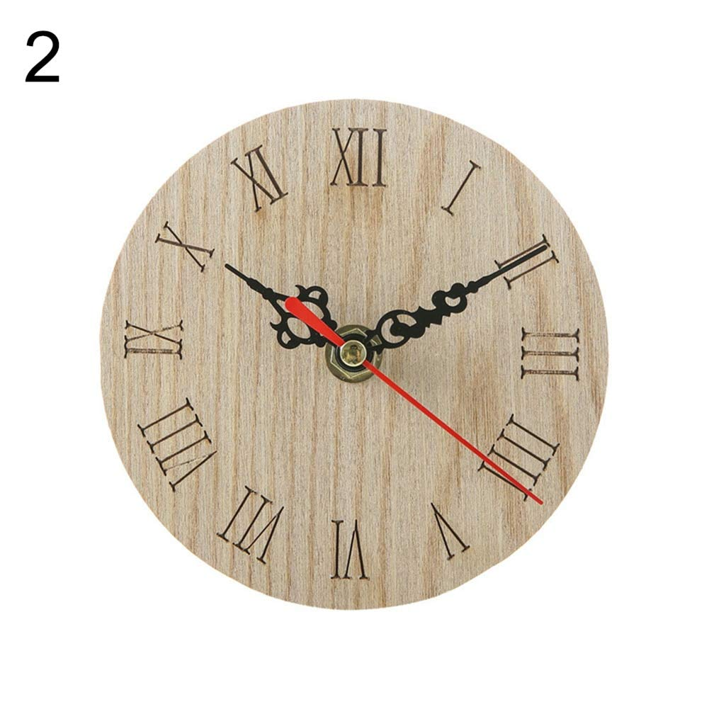 Wall Clocks , Vintage Rustic Wooden Wall Clock Home