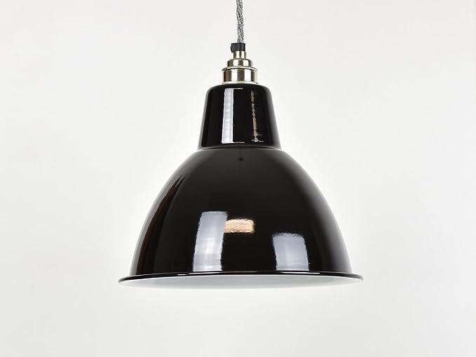 Lámpara de techo, esmalte industrial, estilo vintage de ...