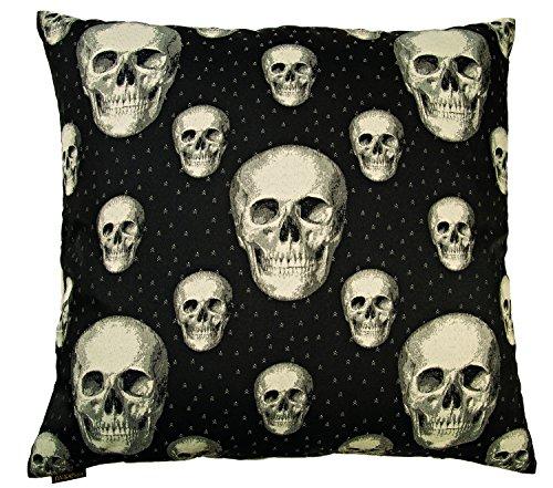 Canaan Company Skalle Decorative Throw Pillow, Black/White (Canaan Company Pillow compare prices)