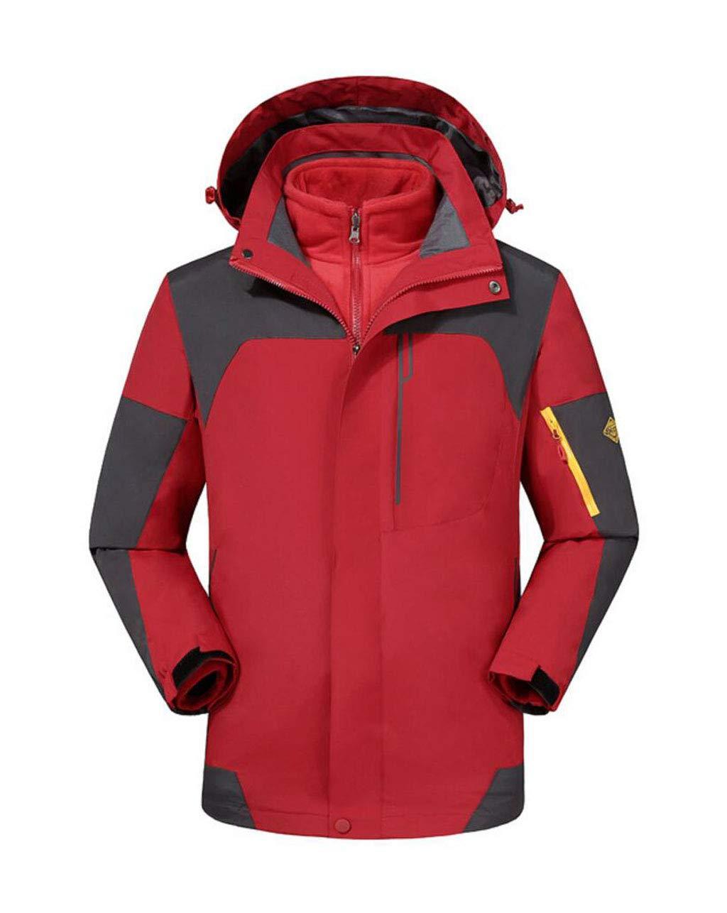 【★大感謝セール】 WY メンズジャケット、フード付きカジュアルジャケットスキーレディースジャケットレインコート防風 屋外 (色 : : B07GZBK9C9 Red, サイズ サイズ さいず : XXXL) B07GZBK9C9 XX-Large|Red Red XX-Large, リカーショップたかはしweb:93da9ae5 --- svecha37.ru
