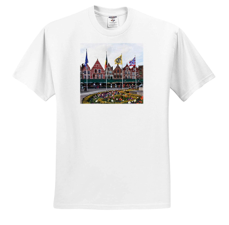 Market Square Adult T-Shirt XL 3dRose Danita Delimont Belgium Brugge ts/_313060 Belgium