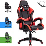 Advwin Gaming Chair Racing Style, Ergonomic Design Reclining Executive Computer Office Chair, Relieve Fatigue (Red)