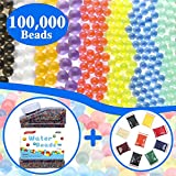 Toys : Water Beads Rainbow Mix Over 100,000 Growing Balls, Lelix Water Gel Beads for Orbeez Spa Refill, Kids Sensory Toys, Vases, Plant, Wedding and Home Decor