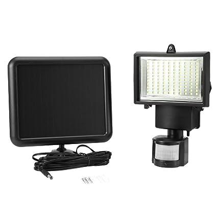 Zerone 100 LED Luz de Sensor de Movimiento, Luz de Seguridad Solar Impermeable PIR Luz de Detector ...