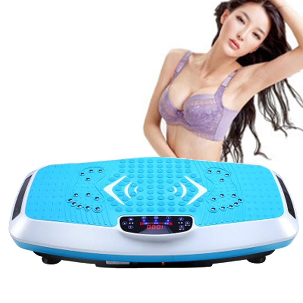 L&X Vibration Power Plate Zum Gewichtsverlust Körperstraffung Zu Hause verwenden Blau 220 V