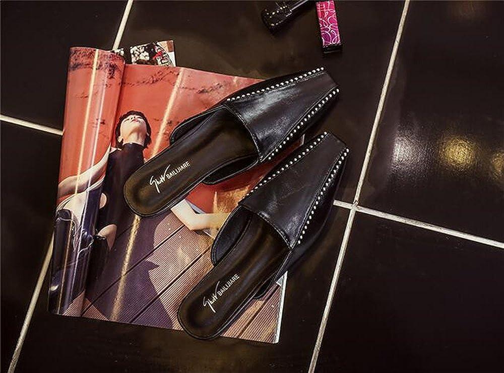 COLOV Womens Mule Slide Backless Slip On Loafers