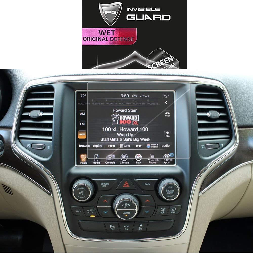 Smooth//Self-Healing//Bubble Free IPG Phone Guard IPG for Jeep Grand Cherokee 2017-2019 8.4 Car Navigation Display Touch Screen Radios Screen Protector Invisible Ultra HD Clear Film Anti Scratch Skin Guard