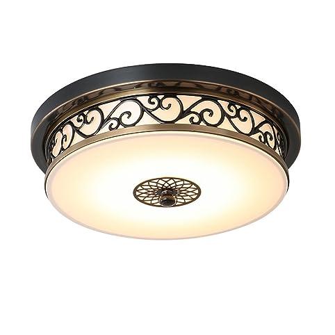 mengke led hohlen geschnitzte retro deckenleuchte dimmbare drei farben lampe vintage deckenlampen antik beleuchtung minimalismus - Deckenlampe Wohnzimmer Antik