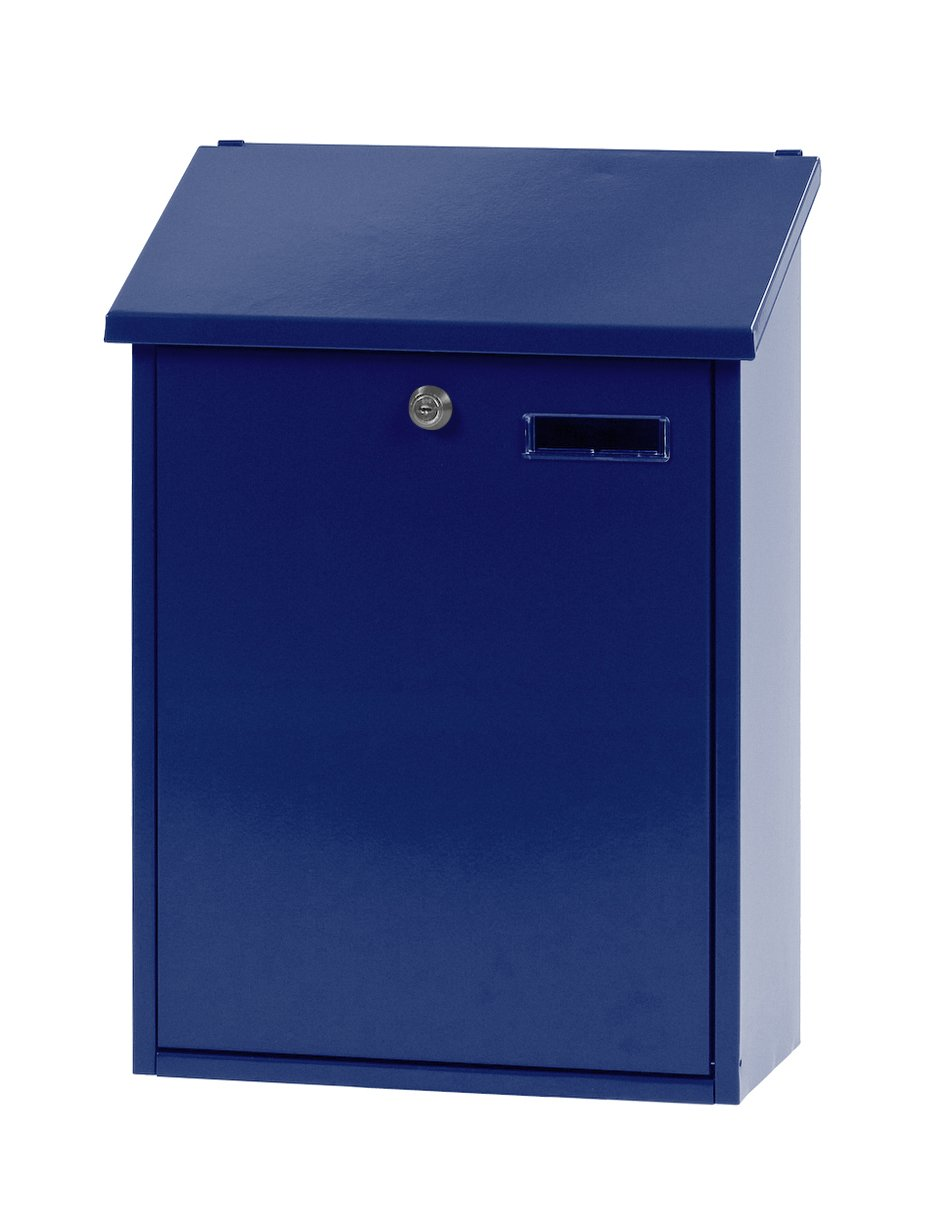 V-Part Wall-Mounted Post Box Height 44.5 cm Blue VB 440350