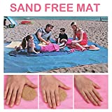 Beach Mat Sand Proof Blanket Sand Easy To Clean Perfect For The Beach, Picnic, Camping, Outdoor Events (Pink)
