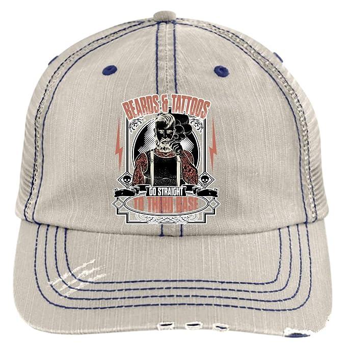 16fe21d41ed I Love My Beard Hat, Beards and Tattoos Trucker Cap (Trucker Cap - Putty