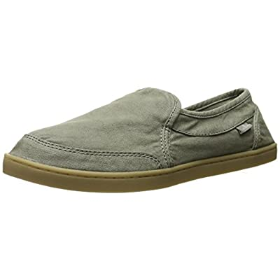 Sanuk Women's Pair O Dice Loafers Olive & Shoe Cleaner Bundle