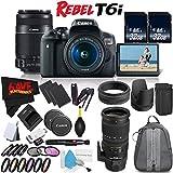 6Ave Canon EOS Rebel T6i DSLR Camera 18-55mm Lens, 55-250mm Lens Sigma 70-200mm - 3 Lens Combo International Model