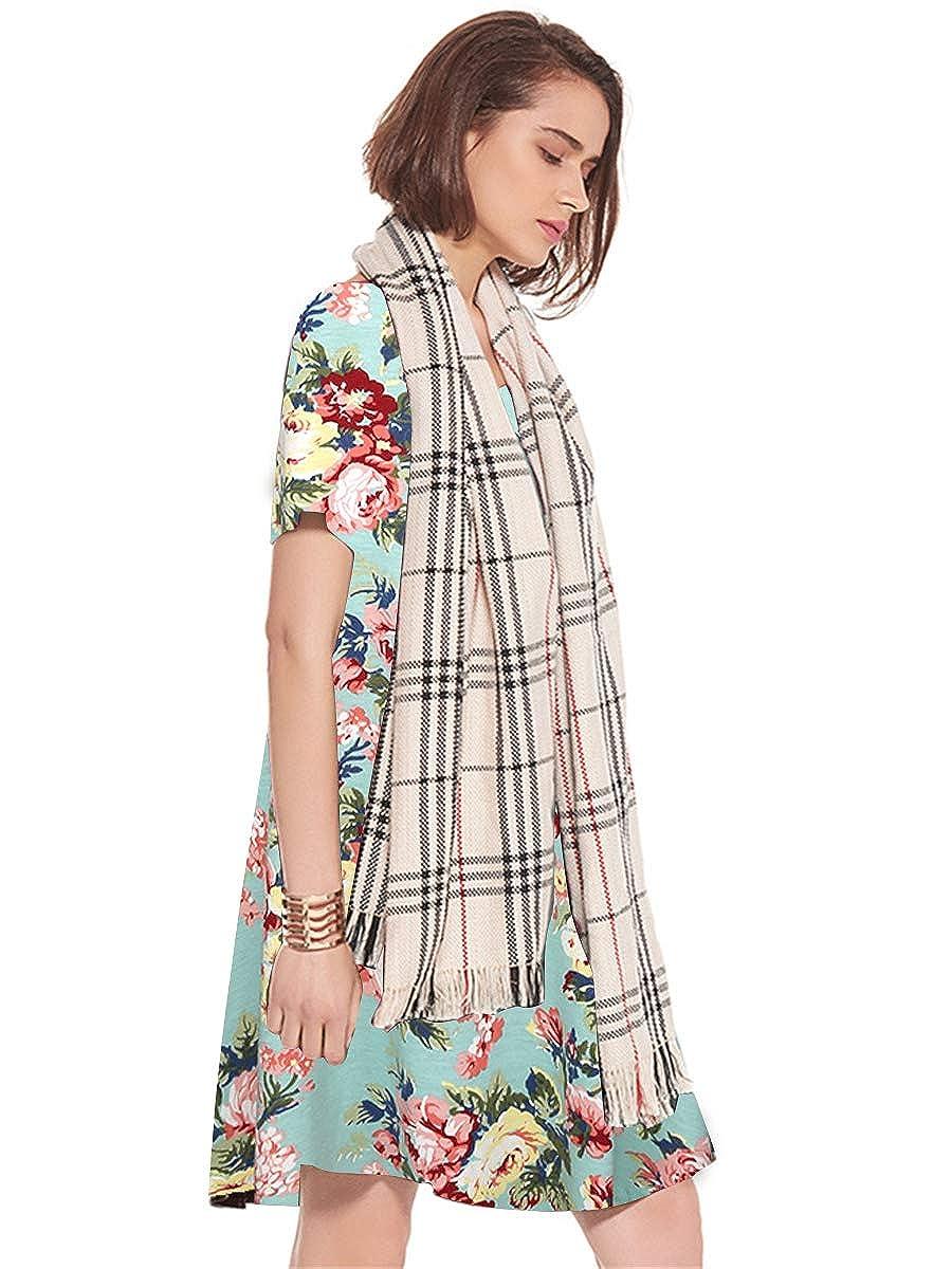 15ebe6e4cc71d JollieLovin Women's Pockets Casual Swing Loose T-Shirt Dress at Amazon Women's  Clothing store: