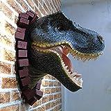 WSZYD tête de dinosaure murale creative club ktv divertissement sur internet mur historique decoration 50 * 50 * 33 (cm)