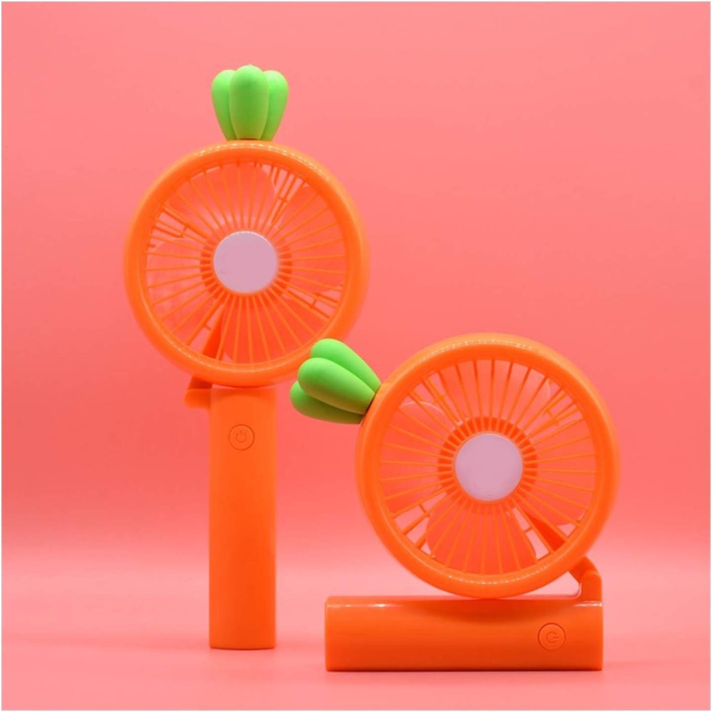 Color : 04 ZHANGQIAO-AE Carrot Shape Miniskirt Fan USB Galvanising Fan Home Office Cooling Fan Mini USB Desktop Fan Small Personal Silent Fan Por