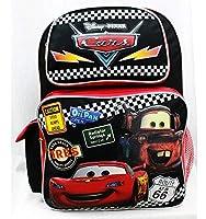 Backpack - Disney - Cars Tires Black Large School Bag Boys New a05689