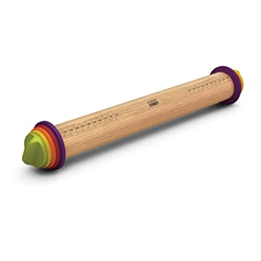 Joseph Joseph 20085 Adjustable Rolling Pin with Removable Rings, Multicolored