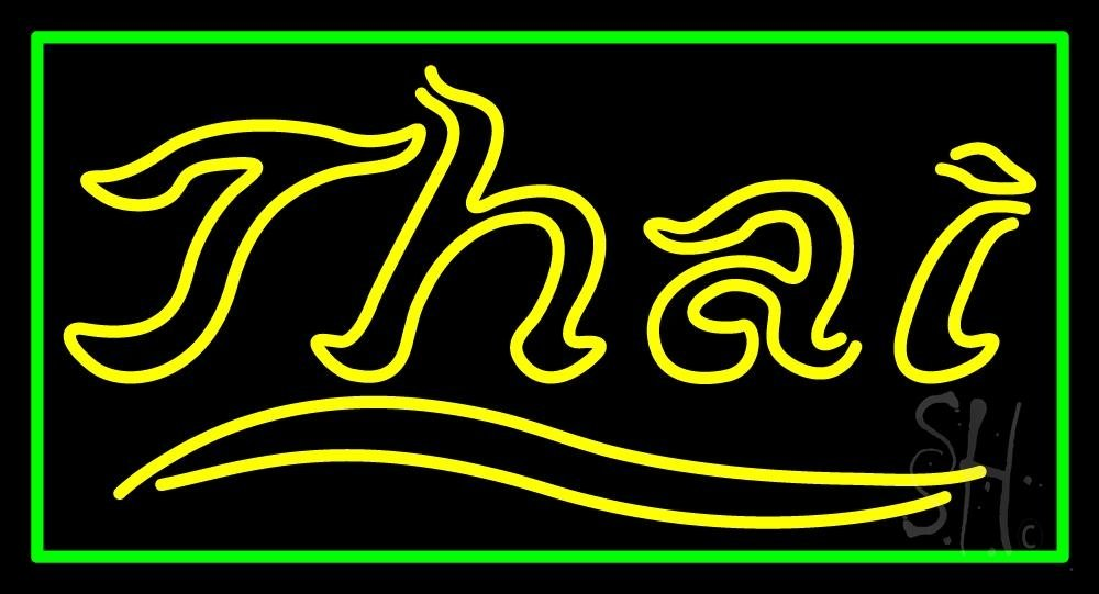 Thai Neon Sign 20'' Tall x 37'' Wide x 3'' Deep