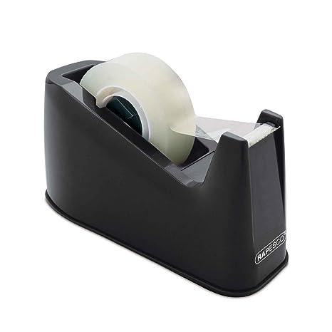 Rapesco Accesorios - Dispensador de cinta adhesiva para rollos de tamaño estandard, negro