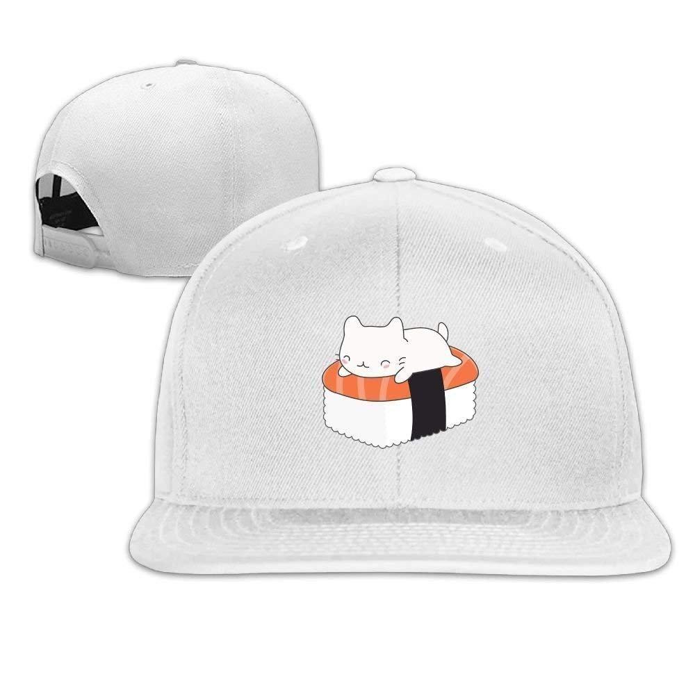 Wfispiy Gorra de Sushi para Gorras de Gorras Planas a lo Largo de ...