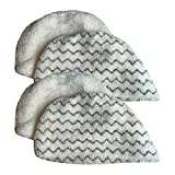 Think Crucial 4 Replacements For Bissell Powerfresh Mop Pads Fit Steam Mops 19402, 19404, 19408, 1940A, 1940Q & 1940T, Compatible With Part # 5938 & 203-2633, Washable & Reusable