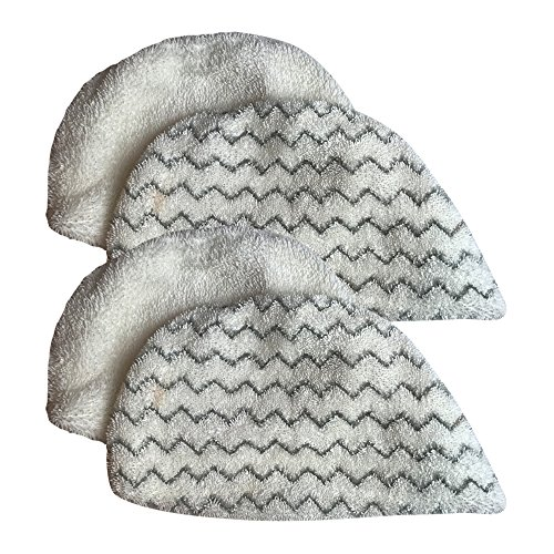 Think Crucial 4 Replacements For Bissell Powerfresh Mop Pads Fit Steam Mops 19402, 19404, 19408, 1940A, 1940Q & 1940T, Compatible With Part # 5938 & 203-2633, Washable & Reusable by Crucial Vacuum