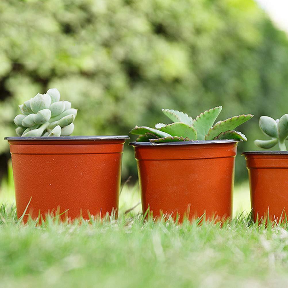 Yardwe 10 UNIDS Planta de Pl/ástico Macetas de Vivero Semillas de semillero Ligero de Dos Tonos Universal Suave Flor de la Planta de Recipiente de Semillas Semillas de Inicio