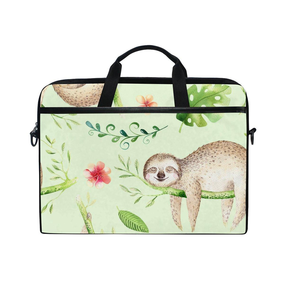 d1c391f396 chic AHOMY Cartoon Baby Sloth Tree 15 Inch Laptop Shoulder Sleeve Messenger  Bag Case